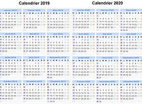 Calendrier 2020 Et 2021 Vacances Scolaires.Calendrier De L Annee Scolaire 2019 2020