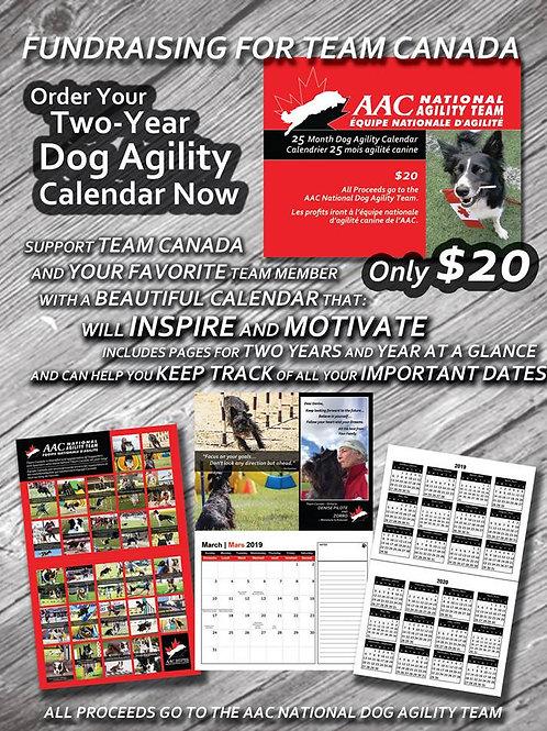 2019 & 2020 Agility AAC Team Calendar