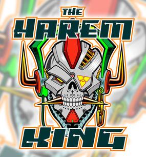 Harem King robotic skull mascot - vector