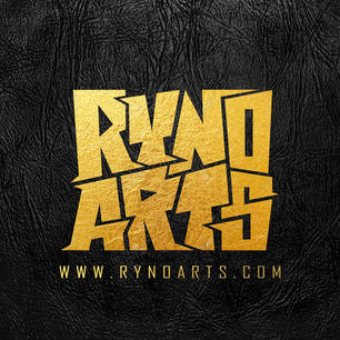 RYNOARTS logo - with gold and leather te