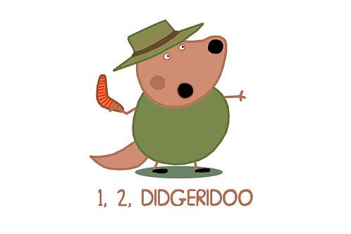 Tee - 1, 2, Didgeridoo