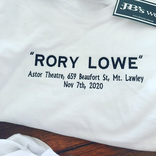 """Rory Lowe"" Tee - Theatre Show Merch"