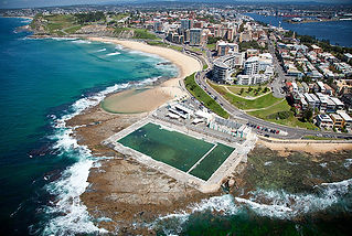 Arial shot of Newcastle, NSW