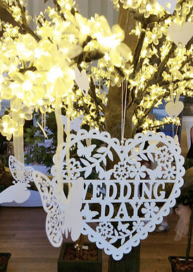 Cherry Blossom Wedding Wishes Tree with LED lights