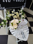 White Heart Wedding Ceremony Table