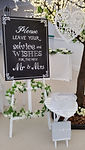 Wedding Blackboard and Heart Table