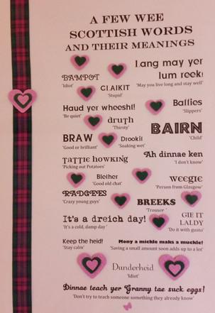 Scottish Sayings artwork