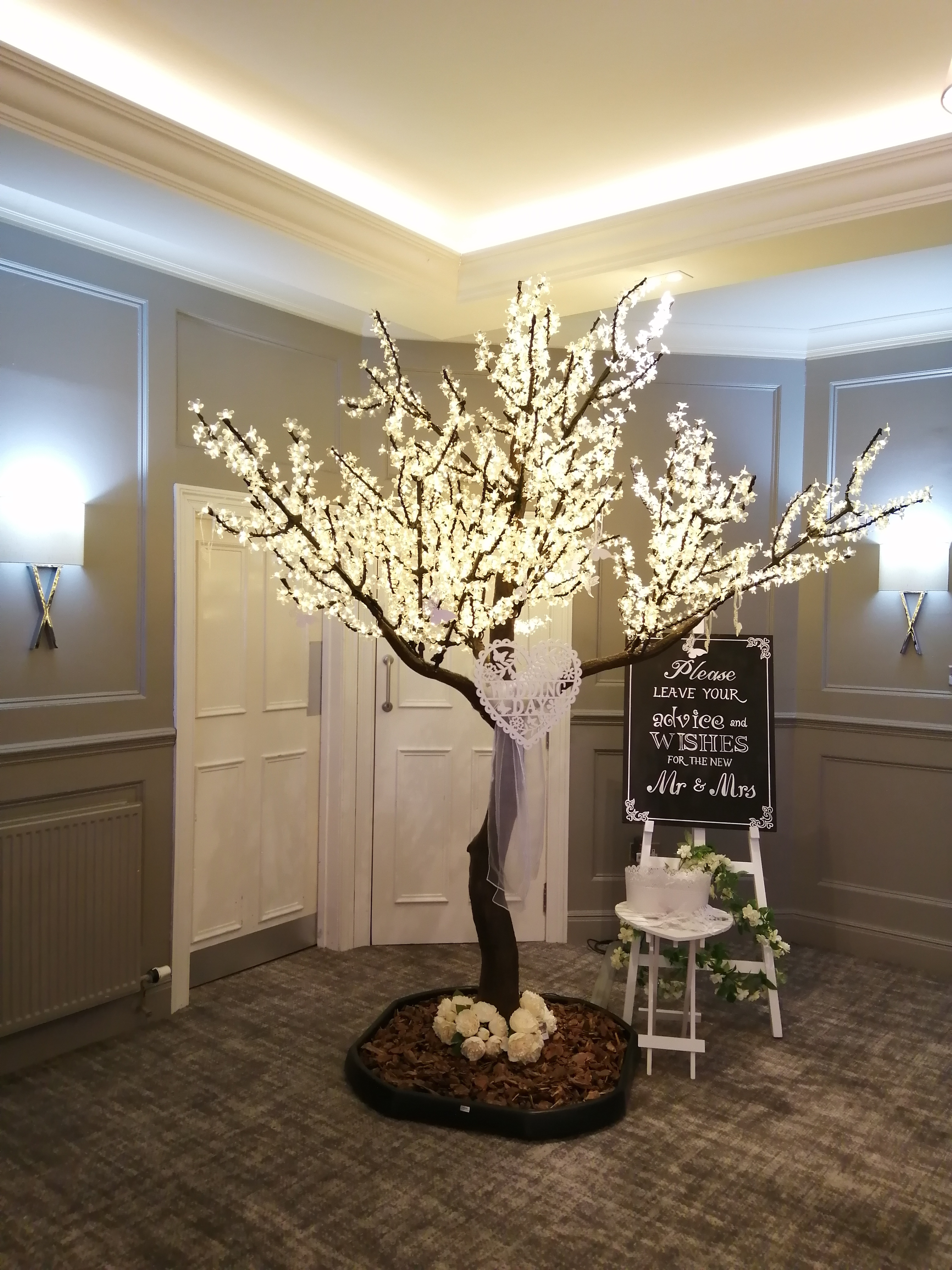 Cherry Blossom Wedding Wishes Tree at Mu