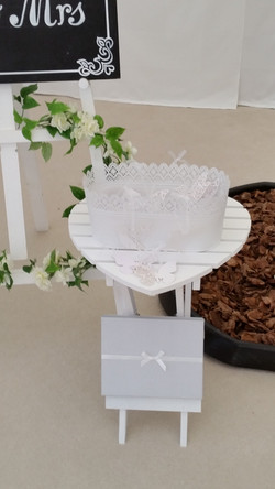White Heart Table for your wedding ceremony and 'Wedding Wishes' Tree