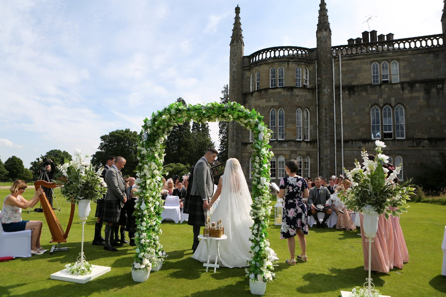 Ross Priory with our Wedding Archway