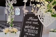 Table Centrepieces & Blackboard