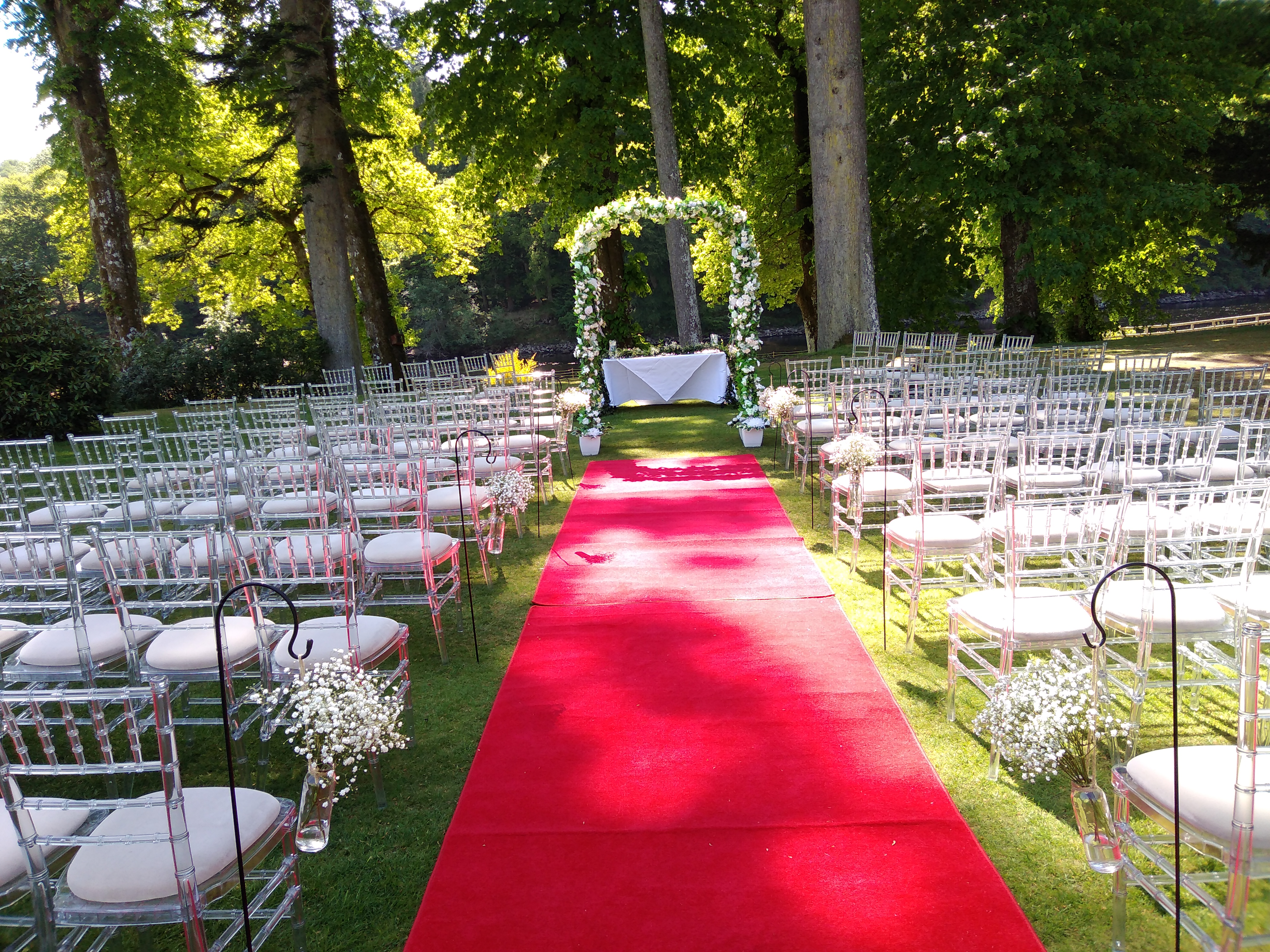 Wedding Archway at Dunkeld House