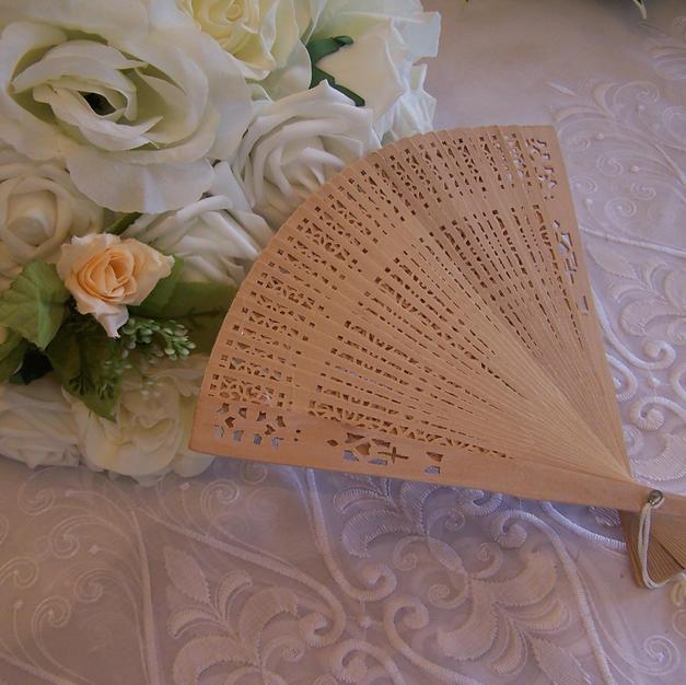 Wooden Bridal Fan  £4.99