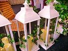 Wedding Lanterns lining a venue entrance