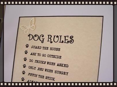 Dog Rules artwork