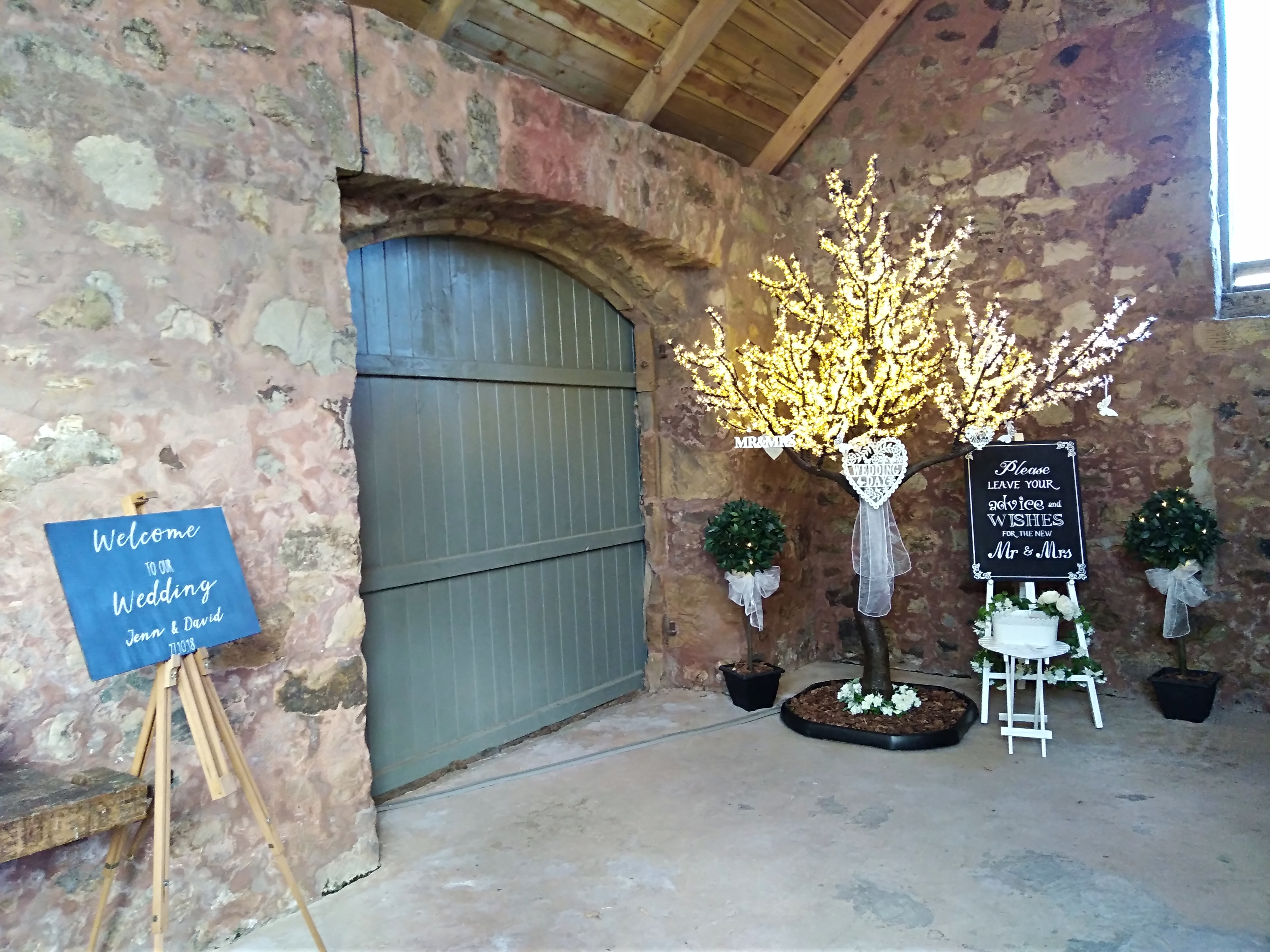 'Wedding Wishes' Tree at the Cow Shed
