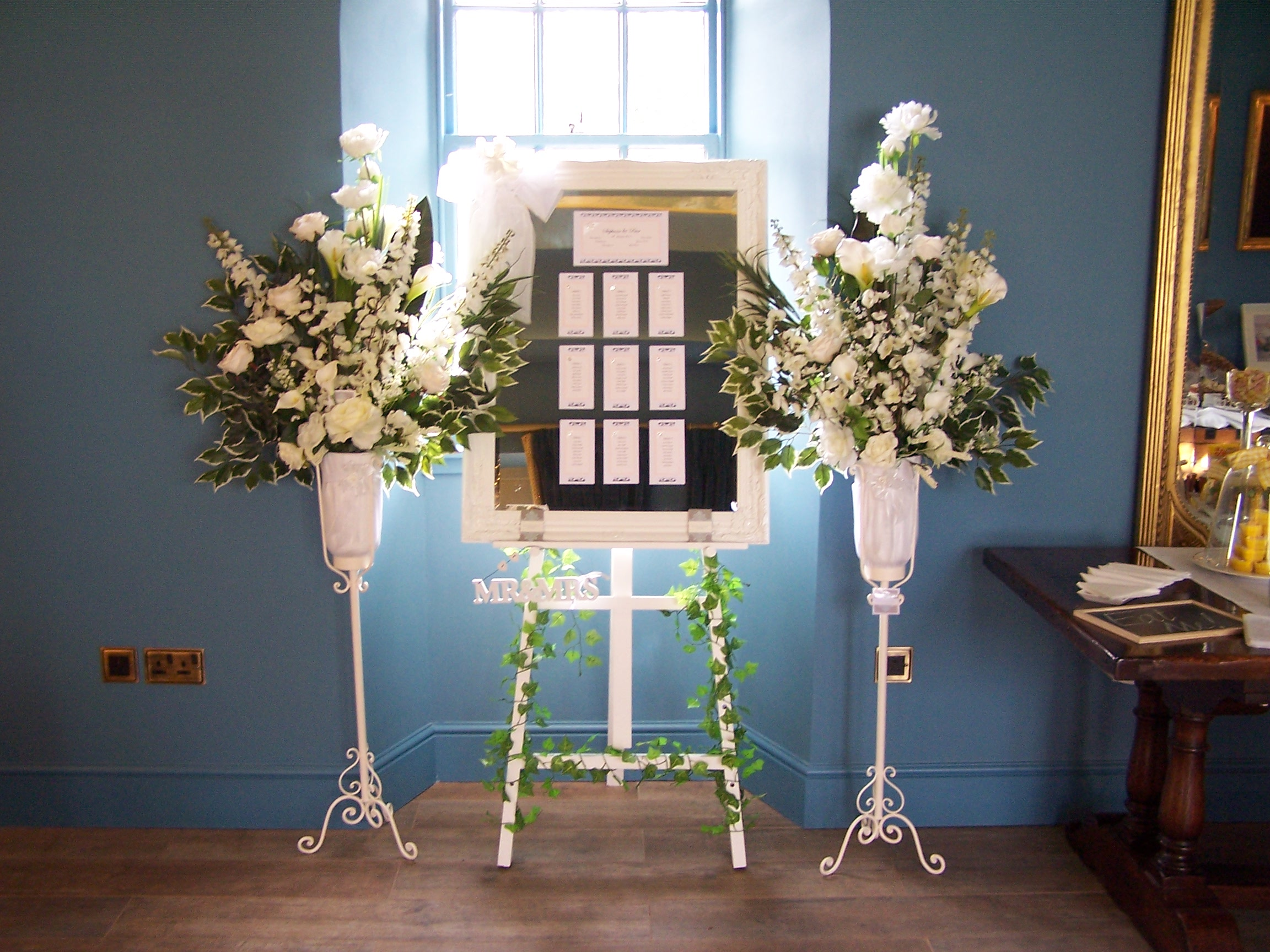 Pedestal Flower Arrangements