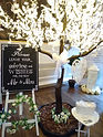 Cherry Blossom Wedding Wishes Tree