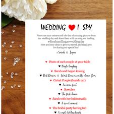 Wedding I Spy  99p each