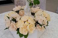 Peonies on our Manzanita Table Centrepieces