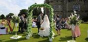 Wedding Archway at Ross Priory, Loch Lomond