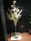 Pedestal Arrangement with stephanotis fl
