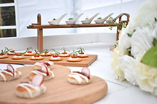 Wedding Canapes on our Market Cart