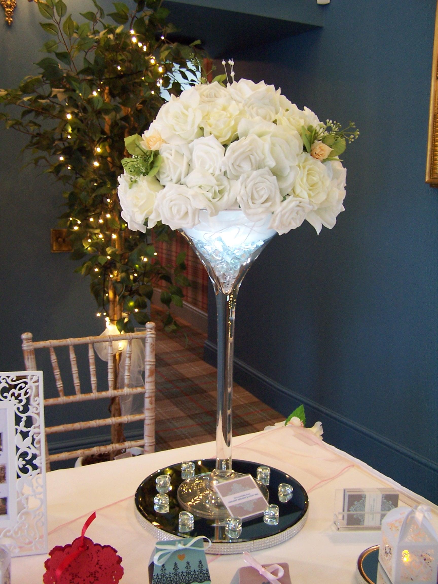 Martini Glass Table Centre