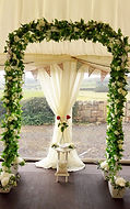 Wedding Archway complete with LED lights