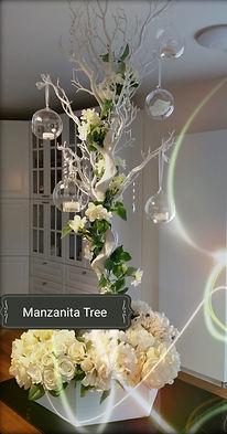 Manzanita Tree Table Centrepieces
