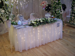 LED-lit Wedding Top Table