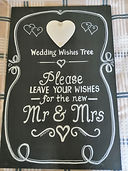 Large Blackboard - Mr & Mrs - for your g