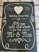 Large Blackboard - Mr & Mrs - for your g