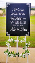 Wedding Day Blackboard