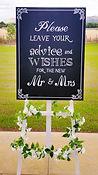 Wedding Day Blackboard