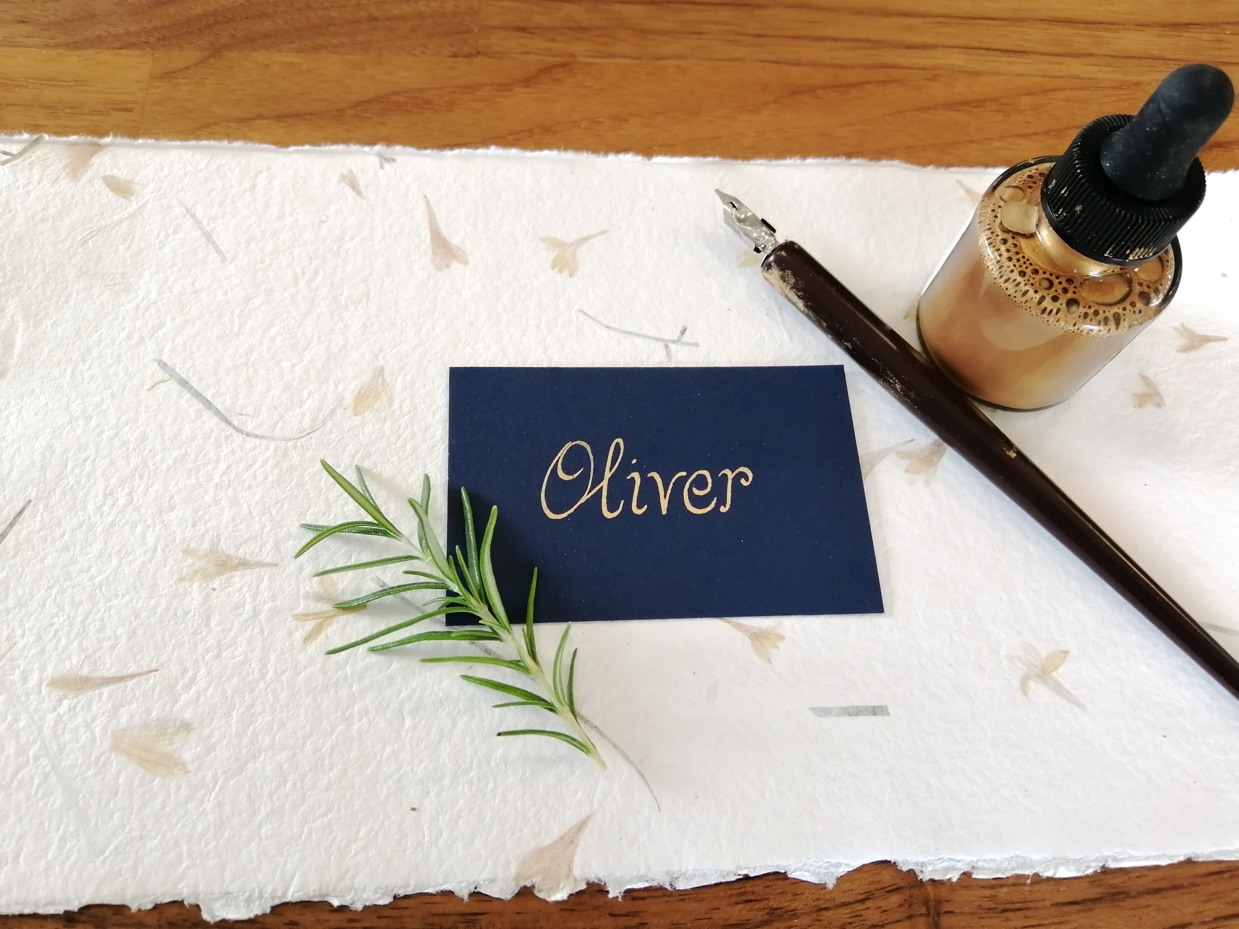 Calligraphy Handmade Place Name Cards
