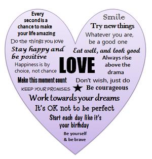 Purple Love Heart