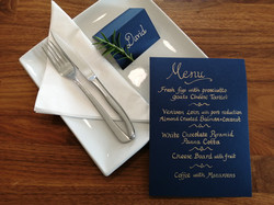 Calligraphy Menu and Place Name Card