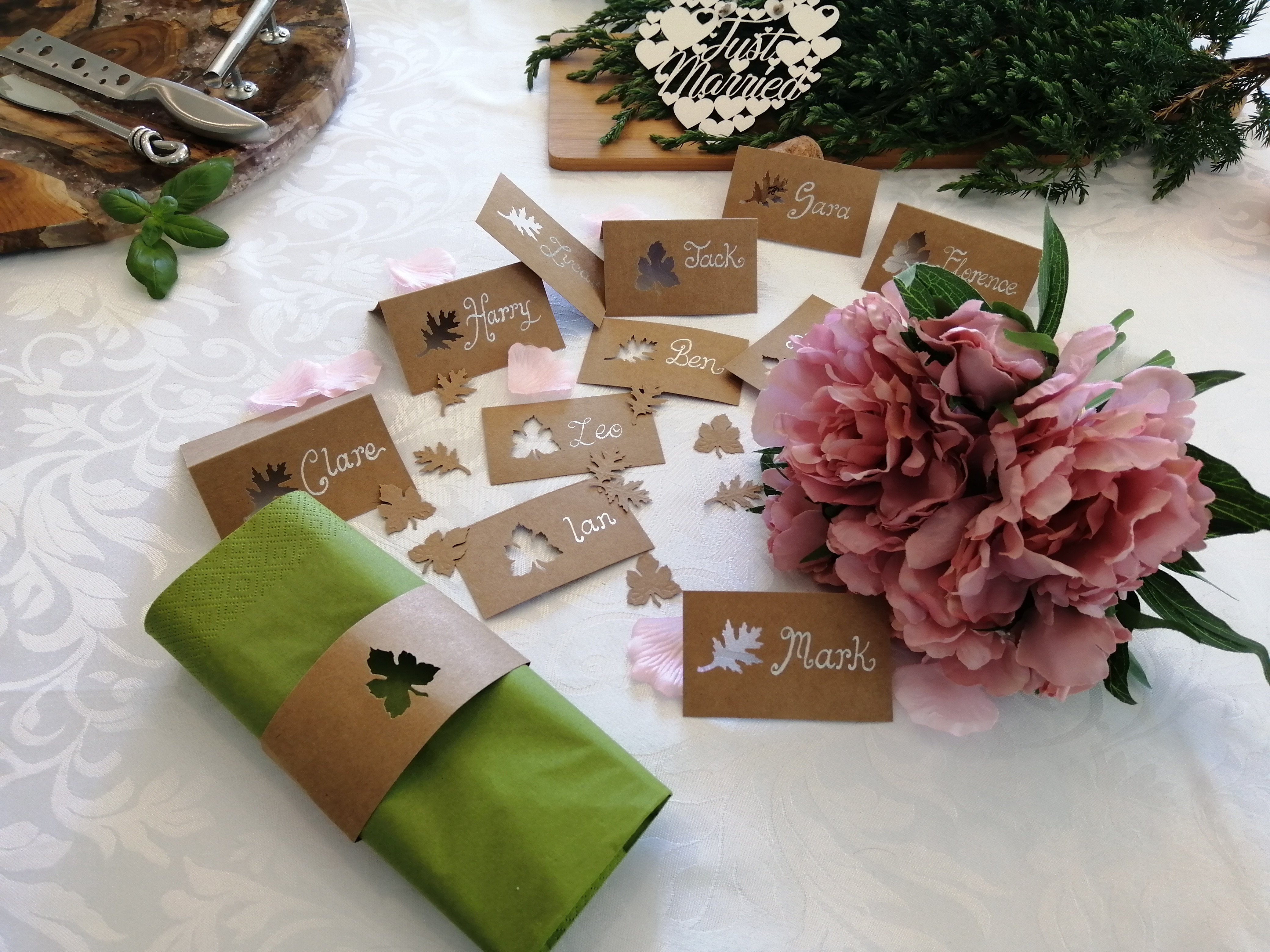 Calligraphy - Handmade Rustic Place Card