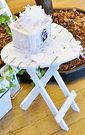 White heart ring table for the Wedding Archway and Wedding Wishes Tree