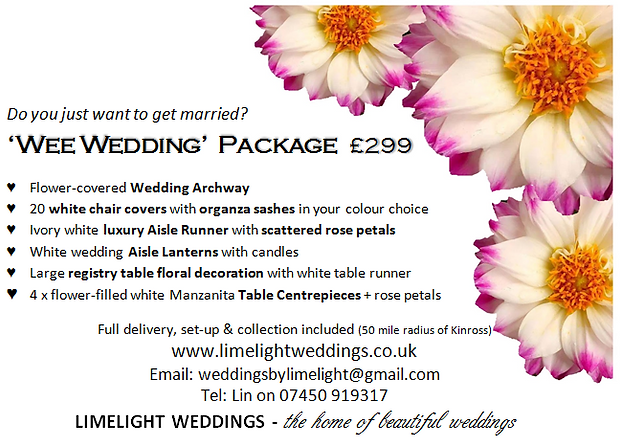 'Wee Wedding' Package