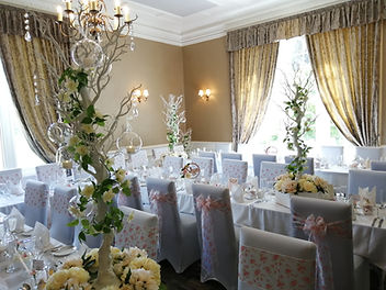 Manzanita Tree Table Centrepieces at Ross Priory