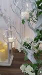 Manzanita Trees glass hanging globes wit
