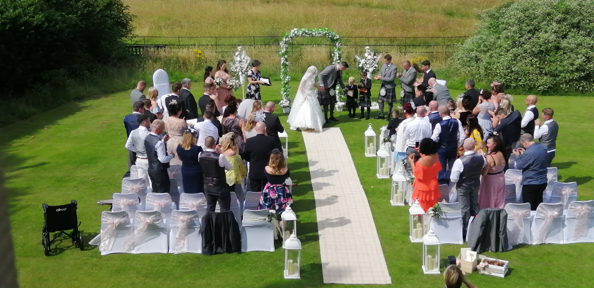 Wedding Archway and Aisle Lanterns