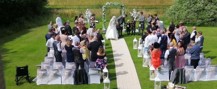 Wedding Archway and Aisle Lanterns