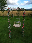 Wedding Cake Swing with Swan cake stand