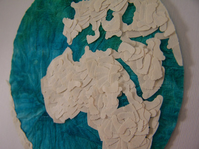 Handmade paper artwork