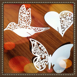 Heart, hummingbird and butterfly Wedding Wishes Tree tags