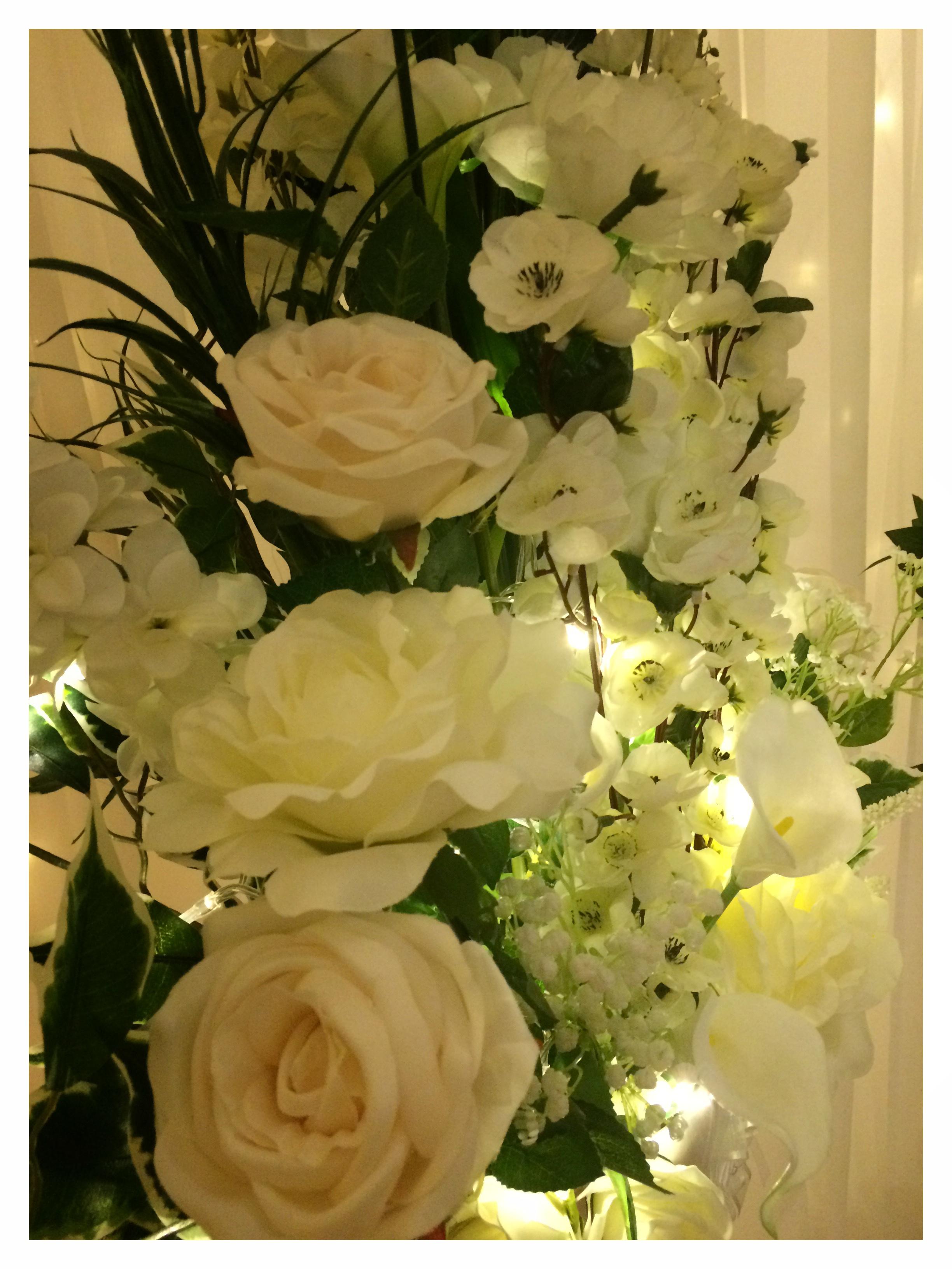 Tall Pedestal Flower Arrangement