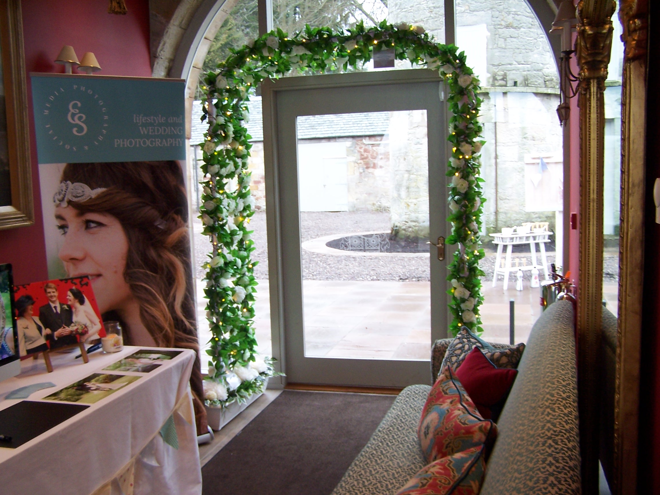Wedding Archway at Kinross House